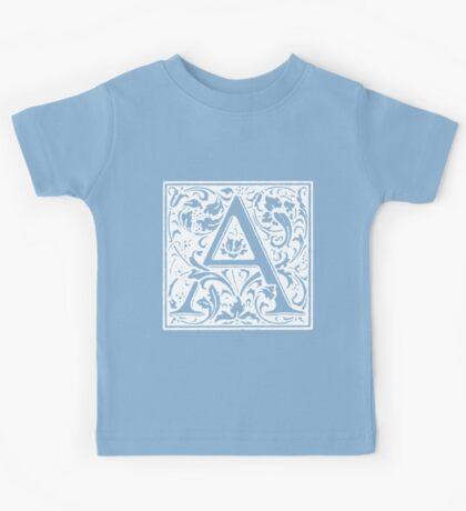 William Morris Renaissance Style Cloister Alphabet Letter A Kids Tee