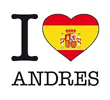 I ♥ ANDRES Photographic Print