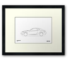 Design Lines - Subaru BRZ Framed Print