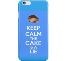 Keep Calm The Cake Is A Lie iPhone Case/Skin