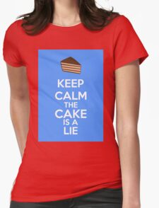 Keep Calm The Cake Is A Lie Womens Fitted T-Shirt
