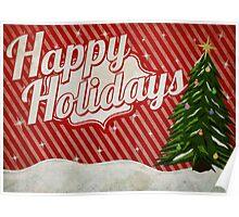 Retro Holidays Poster