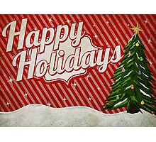 Retro Holidays Photographic Print