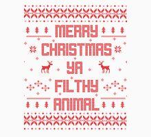 Merry Christmas You Filthy Animal (Red) Men's Baseball ¾ T-Shirt