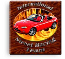 Mazda MX-5 Miata Street Racing Team Canvas Print