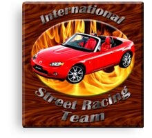 Mazda MX-5 Miata Street Racing Team Canvas Print