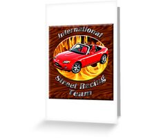 Mazda MX-5 Miata Street Racing Team Greeting Card