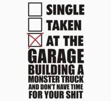 At the garage building a monster truck by SingleTaken