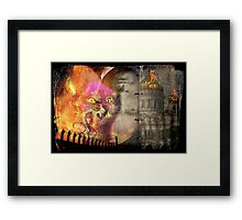 A pussy in riot mood Framed Print
