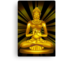Buddha Siddhartha Gautama Golden Statue Canvas Print