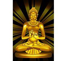 Buddha Siddhartha Gautama Golden Statue Photographic Print