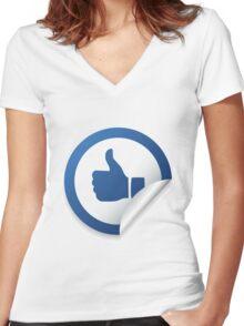 LIKE ME Women's Fitted V-Neck T-Shirt