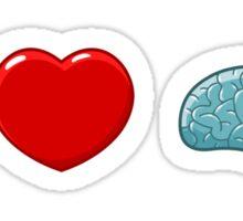 I (heart) Brains Sticker