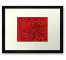 Vintage Austin Red Framed Print