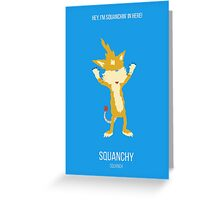 Minimalist Squanchy Greeting Card