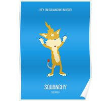 Minimalist Squanchy Poster