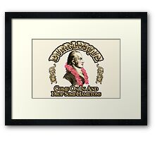 Burr-lesque Framed Print
