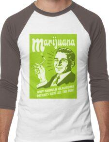 Marijuana funny Men's Baseball ¾ T-Shirt