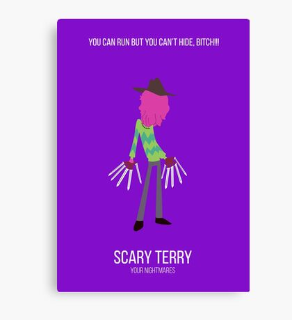 Minimalist Scary Terry Canvas Print