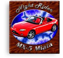 Mazda MX-5 Miata Night Rider Canvas Print
