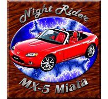 Mazda MX-5 Miata Night Rider Photographic Print