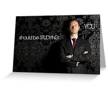 Go Study-Mycroft Holmes v2 Greeting Card