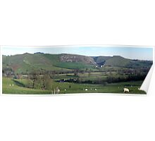 Bunster and Thorpe Cloud panorama Poster