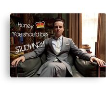Go Study—James Moriarty Canvas Print