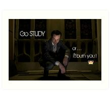 Go Study—James Moriarty v2 Art Print
