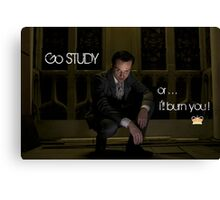 Go Study—James Moriarty v2 Canvas Print