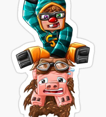 The Pilot Pig! Sticker