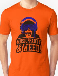 Music Party Weed T-Shirt