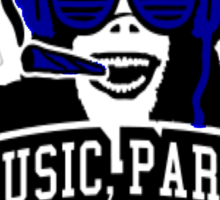 Music Party Weed Sticker