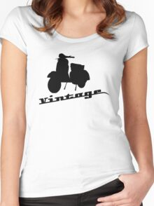 Vintage Vespa Women's Fitted Scoop T-Shirt