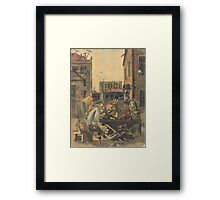 In the yard Framed Print
