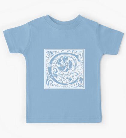 William Morris Renaissance Style Cloister Alphabet Letter C Kids Tee