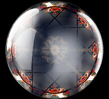 Flags in a glass ball by David Patterson