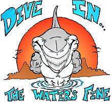 Dive In Shark by Skree