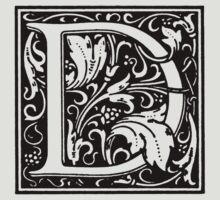 William Morris Renaissance Style Cloister Alphabet Letter D T-Shirt