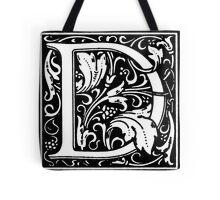 William Morris Renaissance Style Cloister Alphabet Letter D Tote Bag