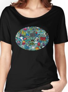POP ART CARTOON PRINT Women's Relaxed Fit T-Shirt