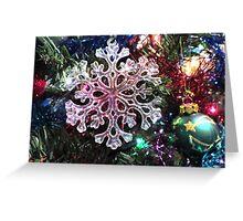 Snowflake Tree Ornament Greeting Card