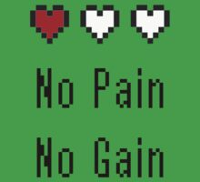 No Pain No Gain - Zelda Health Meter by Dylan Nonya