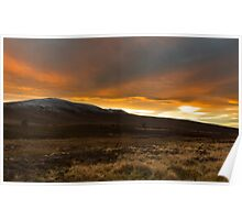 Ben Rinnes at sunset. Poster
