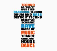 Trance Techno Dubstep Rave Cross Unisex T-Shirt