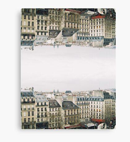 upside down parisian rooftops Canvas Print