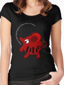 Unidentified animal Having an Identity crisis, vector text Tee Women's Fitted Scoop T-Shirt