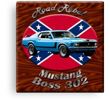 Ford Mustang Boss 302 Road Rebel Canvas Print