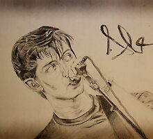 Portrait of Alex, Pencil by RockandRoll Maker