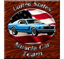 Ford Mustang Boss 302 Muscle Car Team Photographic Print